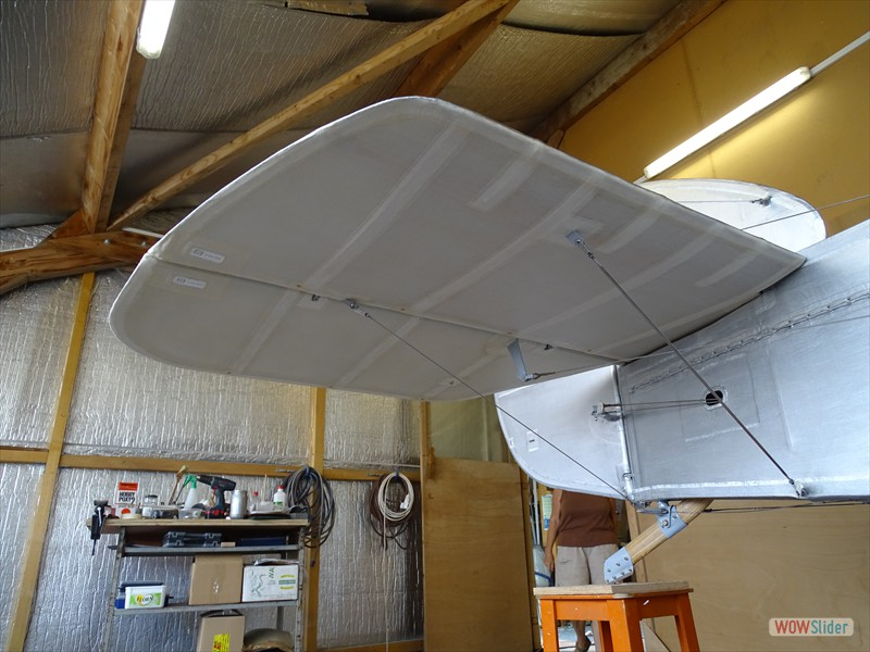 empennage underside left unsilvered for clear finish