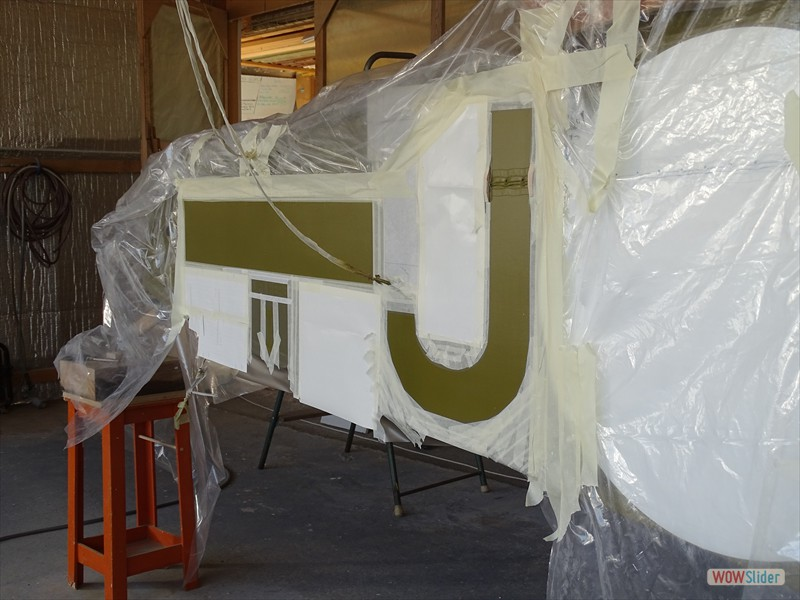 masking up for the second white step