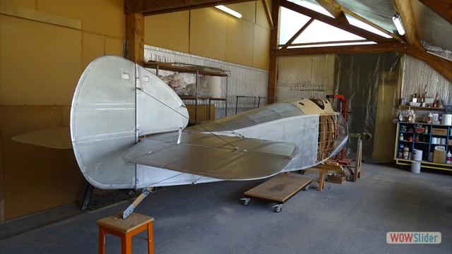 Silvered fuselage