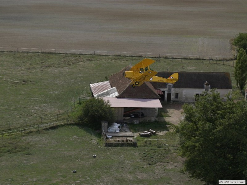 Over the airfield owner's house