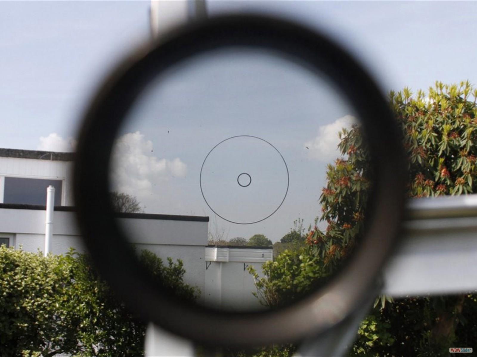 View through Aldis sight